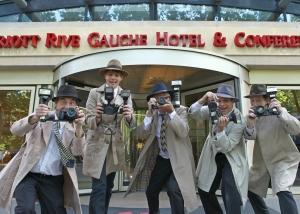Faux Paparazzi à L'hôtel Marriott Paris